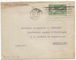 JEUX OLYMPIQUES 10C SEUL LETTRE PARIS DEPART 12.VII.1924 MENTION CONVOCATION - Marcophilie (Lettres)
