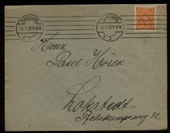 S5774 DR Infla EF Auf Briefumschlag:gebraucht Hamburg - Lokstedt 1923, Bedarfserhaltung. - Brieven En Documenten
