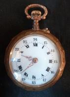 """Montres à Gousset """" METALOR V.A.R. """" Doré,  à Remontoir - M 5   ( Très Bon état ) - Watches: Bracket"""
