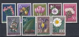 Yugoslavia 1957 Flowers Set, MNH ** - Unused Stamps