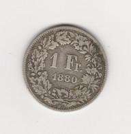 1 FRANC ARGENT 1880 - Schweiz