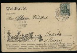 S5451 - DR Werbe Postkarte Teise Und Bittelich: Gebraucht Ebersbach - Taucha 1907 , Bedarfserhaltung. - Germany