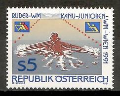 Austria 1991 / Sport Rowing MNH Deportes Remo / Fv41  38-9 - Rudersport