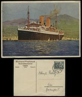 S4947 DR Werbe Postkarte Poetsch Kaffee Leipzig , Dampfer Schiff: Gebraucht Sondershausen  1934 , Bedarfserhaltung - Germany