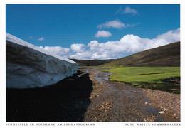 1 AK Island / Iceland * Schneefeld Im Hochland Am Laugavegur (Trekkingweg) * - Islanda
