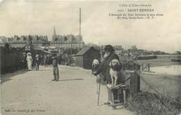SAINT SERVAN-l'aveugle Du Pont Roulant Et Son Chien - Saint Servan