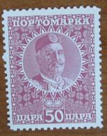 1913 MONTENEGRO Fiscali Revenue Tax Postage Due - Re Nicola I -  50 Para - Nuovo MNH - Montenegro