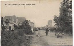 85 CHALLANS  - La Route De St-Jean-de-Monts - Challans