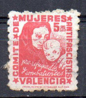 Viñeta De Comite De Mujeres Valencia - Vignette Della Guerra Civile