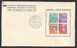 Suisse - Schweitz – Switzerland – BF 1- NABA 1934 – Oblitéré/used - Blocks & Sheetlets & Panes