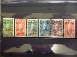 BELGISCH CONGO 162/167 XX ( COB ) COTE : 55 EURO ( C ) - 1923-44: Mint/hinged