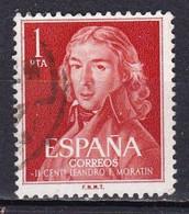 Spagna, 1961 - 1p  Leonardo F. De Moratin - Nr.971 Usato° - 1931-Aujourd'hui: II. République - ....Juan Carlos I