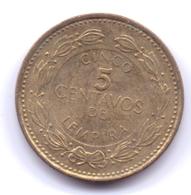 HONDURAS 2003: 5 Centavos, KM 72 - Honduras