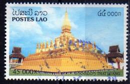 Laos 2001 Vientiane Ethnologie Religion Stupa That Luang E 45000 Kip Used Oblitéré - Laos