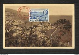MONACO - Carte MAXIMUM 1946 - MONACO - MONTE-CARLO - Vue Générale - Cartoline Maximum