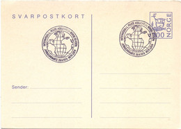 NORGE  NORVEGIA STATIONERY POST CARD 1979  POLICE ASSOCIATION    (SETT200460) - Politie En Rijkswacht