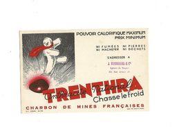 Buvard  Charbon Trenthra Anthracite National - Idrocarburi