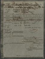 1822 TRAITE OFFICIELLE D'ETAT DU SENEGAL De 1000 Fr Sur Papier Pelure - ...-1889 Francs Im 19. Jh.