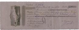 1884 BANQUE DE LA GUADELOUPE Mandat De 732 Fr Daté De Pointe à Pitre, De Couleur Noire Sur Papier Lilas - ...-1889 Circulated During XIXth