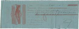 1884 BANQUE DE LA MARTINIQUE Mandat De 3032 Fr Daté De St Pierre, De Couleur Vermillon Sur Papier Bleu - ...-1889 Circulated During XIXth