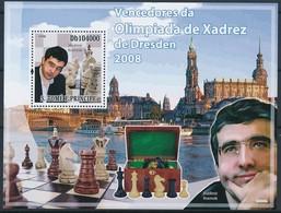 [401613]TB//**/Mnh-Sao Tomé-et-Principe 2006 - Champions D'échecs, Vladimir Kramnik - Scacchi