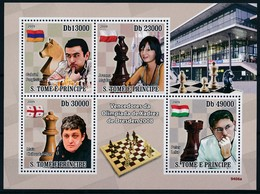 [401650]TB//**/Mnh-Sao Tomé-et-Principe 2009 - Vainceur Olympique D'échecs De Dresden, Célébrités - Scacchi