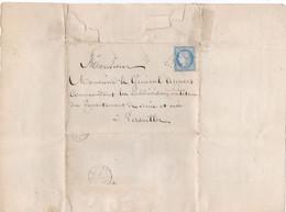 Fort Des Saumonards Ile D'Oléron : Lettre 1871 Pour Le Général Appert D'un Détenu Demandant Sa Liberté. Voir Description - 1849-1876: Periodo Classico