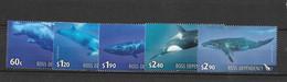 Dépendance De Ross (Nouvelle Zélande) N°125 à 129** Faune Baleines - Neufs