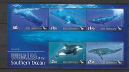 Dépendance De Ross (Nouvelle Zélande) Bloc Feuillet N° 2** Faune Baleines - Neufs
