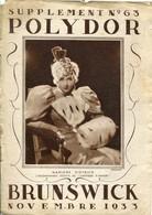 PEU COMMUN ! CATALOGUE POLYDOR 1933 MARLENE DIETRICH THEMES CELEBRITES ARTISTES CINEMA MUSIQUE - Artistes