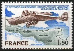 D - [43869]TB//**/Mnh-France  - PA 51, 65ème Anniversaire De La 1ère Liaison Postale Aérienne Officielle, Avion - Vliegtuigen