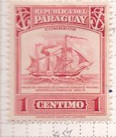PIA - PARAGUAY -1946 - Uso Corrente - Antico Battello Mercantile - (Yv 457) - Paraguay