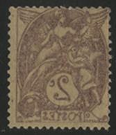 * N°108g BLANC IMPRESSION RECTO-VERSO COMPLETE Brun-lilas Type IA. TB COTE 50 € - 1900-29 Blanc