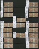 ** N°110 (x38) BLANC COLLECTION DE 19 PAIRES MILLESIMEES Avec Des Nuances Différentes COTE 685 € Voir Description - 1900-29 Blanc