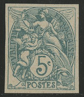 ** N°111g BLANC NON DENTELE Vert-bleu Type IA. TB COTE 110 € - 1900-29 Blanc