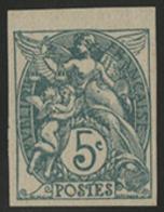 * N°111g BLANC Vert NON DENTELE Avec Petit Bord De Feuille Supérieur. TB COTE 90 € - 1900-29 Blanc