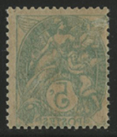 * N°111i IMPRESSION RECTO-VERSO COMPLETE Du Vert-jaune Type IA. TB COTE 40 € - 1900-29 Blanc