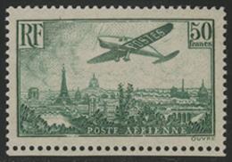 * N°14 AVION SURVOLANT PARIS 50 Fr Avec Un Tout Petit Bord De Feuille Inférieur. TB COTE 1100 € - 1927-1959 Mint/hinged