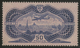** N°15 BURELE 50 Fr Outremer. TB COTE 1500 € - 1927-1959 Mint/hinged