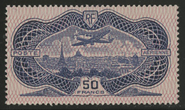 * N°15 BURELE 50 Fr Outremer. TB COTE 800 € - 1927-1959 Mint/hinged