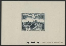 ** N°20 BLOC FEUILLET SPECIAL Gommé Du 500 Fr Vert CONGRES DE L'U.P.U. COTE 1100 € Voir Description - 1927-1959 Mint/hinged