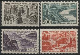 ** N°24 à 27 AVION SURVOLANT DES GRANDES VILLES Série Complète Dont Le 500 Fr Rouge. TB COTE 110 € - 1927-1959 Mint/hinged