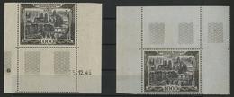** N°29 (x2) VUE DE PARIS 1000 Fr Sur Papier Crème Et Sur Papier Bleuté. TB COTE 330 € Voir Description - 1927-1959 Mint/hinged