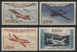 ** N°30 à 33 PROTOTYPES Dont Les Rares 500 Fr Fouga Magister Et 1000 Fr Bréguet Provence. TB COTE 400 € - 1927-1959 Mint/hinged