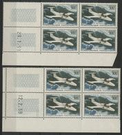 ** N°35 (x8) MORANE - SAULNIER Deux Blocs De Quatre Avec Coin Daté Du 28/1/59 Et Du 12/2/59. TB COTE 80 € - 1927-1959 Mint/hinged