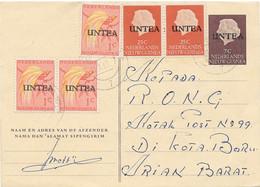 UNTEA Postkarte HOLLANDIA NIEDERLÄNDISCH NEU GUINEA GSK Mit Zusatzfrankatur Bedarf! - Oceania (Other)