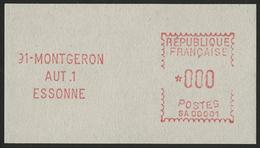 ** N°2a VIGNETTE EXPERIMENTALE DE MONTGERON Avec Valeur '000' Pour Démonstration. Rare TB COTE 300 € - 1981-84 LS & LSA Prototypes