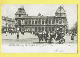 * Brussel - Bruxelles - Brussels * (Th. Van Den Heuvel, Nr 11) La Gare Du Nord, Railway Station, Bahnhof, Cheval, Animée - Bruxelles-ville
