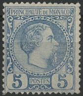 ** N°3 5 Ct Bleu NEUF Type Charles III. Rare Sans Charnière. TB COTE 165 € - Monaco