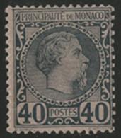 * N°7 40 Ct Bleu Sur Rose NEUF Type Charles III. TB COTE 125 € - Monaco